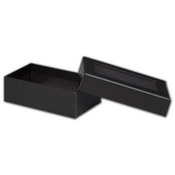 Black Rigid Gourmet Window Boxes, Rectangle