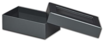 Graphite Metallic Rigid Gourmet Window Boxes, Rectangle