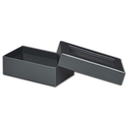 Graphite Metallic Rigid Gourmet Window Boxes, Rectangle