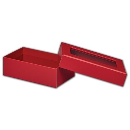 Red Rigid Gourmet Window Boxes, Rectangle