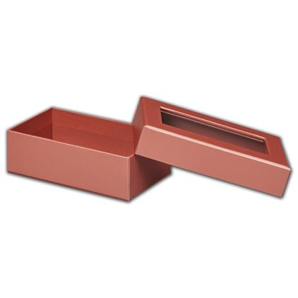 Rose Gold Metallic Rigid Gourmet Window Boxes, Rectangle