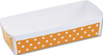 Orange Polka Dot Loaf Baking Pans, 6 9/10 x 2 3/5 x 1 4/5