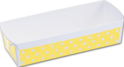"Yellow Polka Dot Loaf Baking Pans, 6 9/10 x 2 3/5 x 1 4/5"""
