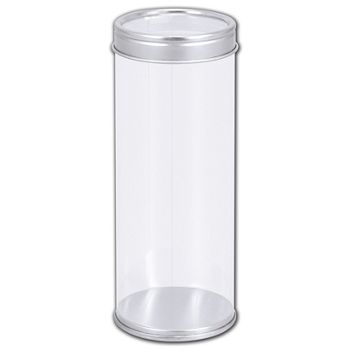 "Clear Tubes with Lids, 2"" Dia. x 5"" H"