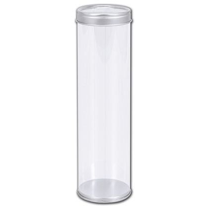 """Clear Tubes with Lids, 2"""" Dia. x 7"""" H"""