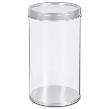 "Clear Tubes with Lids, 3 3/20"" Dia. x 5 4/5"" H"
