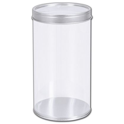 """Clear Tubes with Lids, 3 3/20"""" Dia. x 5 4/5"""" H"""