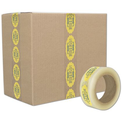 """Clear Custom Printed Tape, 2 Colors, 2"""" x 110 Yds"""
