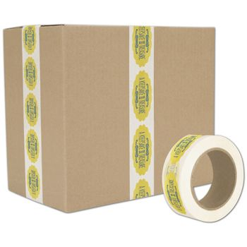 White Custom Printed Tape, 2 Colors, 2
