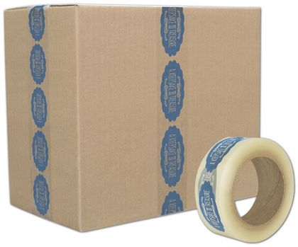 """Clear Custom Printed Tape, 1 Color, 2"""" x 55 Yds"""