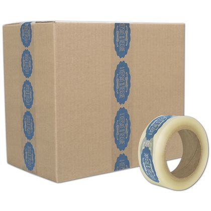 "Clear Custom Printed Tape, 1 Color, 2"" x 55 Yds"