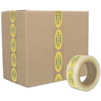 "Clear Custom Printed Tape, 2 Colors, 2"" x 55 Yds"