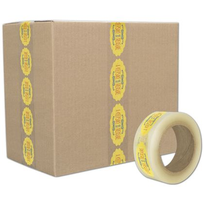 "Clear Custom Printed Tape, 3 Colors, 2"" x 55 Yds"