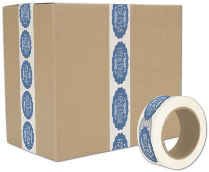 "White Custom Printed Tape, 1 Color, 2"" x 55 Yds"