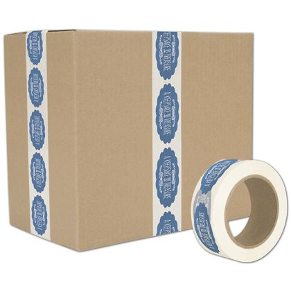 "White Custom Printed Tape, 1 Color, 2"" x 55 Yds"