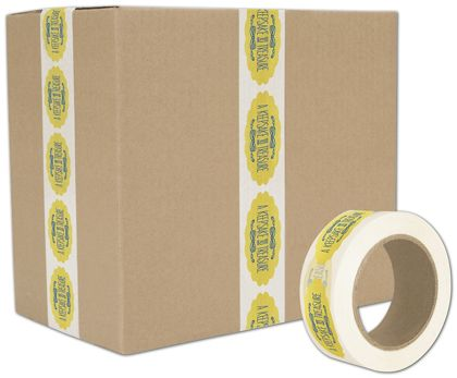 "White Custom Printed Tape, 2 Colors, 2"" x 55 Yds"