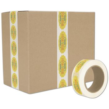 White Custom Printed Tape, 3 Colors, 2