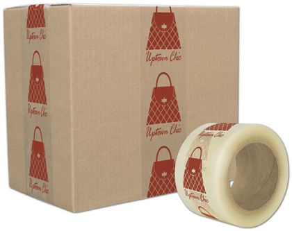 "Clear Custom Printed Tape, 1 Color, 3"" x 110 Yds"