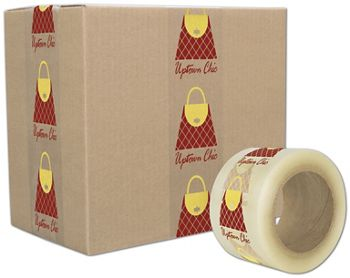 Clear Custom Printed Tape, 2 Colors, 3