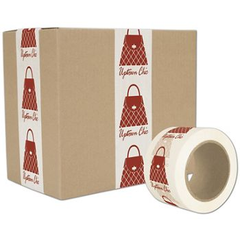 White Custom Printed Tape, 1 Color, 3