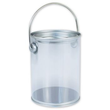 "Silver Clear Pails, 3 "" Diameter x 4"" High"