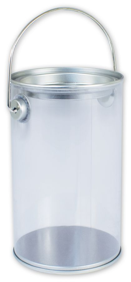"Silver Clear Pails, 3 "" Diameter x 5"" High"