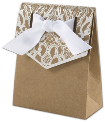 Naturally Vintage Tent Favor Boxes, 3 x 1 3/8 x 3 3/4