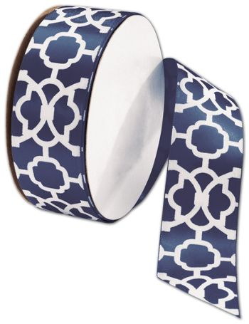 Tangiers Navy Ribbon, 1 1/2