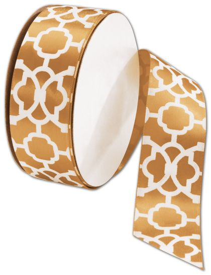 "Tangiers Gold Ribbon, 1 1/2"" x 25 Yds"