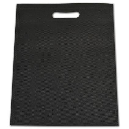 "Black Non-Woven Tuff Seal Merchandise Bags, 10 x 12"""