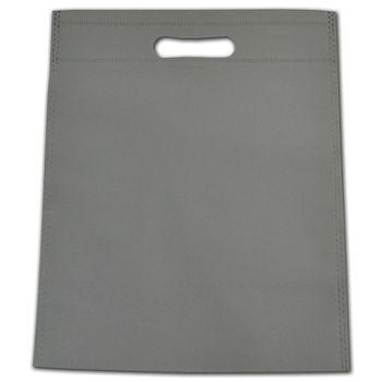 """Gray Non-Woven Tuff Seal Merchandise Bags, 10 x 12"""""""