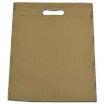 "Sand Non-Woven Tuff Seal Merchandise Bags, 10 x 12"""
