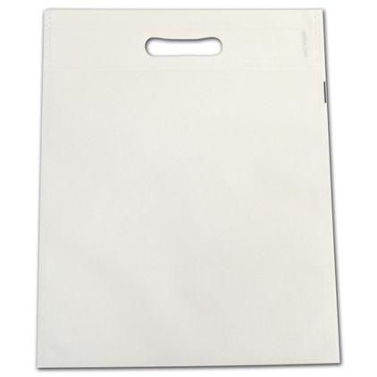 """White Non-Woven Tuff Seal Merchandise Bags, 10 x 12"""""""