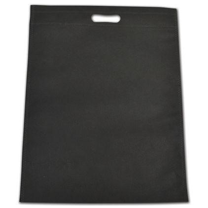 Black Non-Woven Tuff Seal Merchandise Bags, 13 4/5x17 7/10
