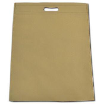 "Sand Non-Woven Tuff Seal Merchandise Bags, 13 4/5x17 7/10"""
