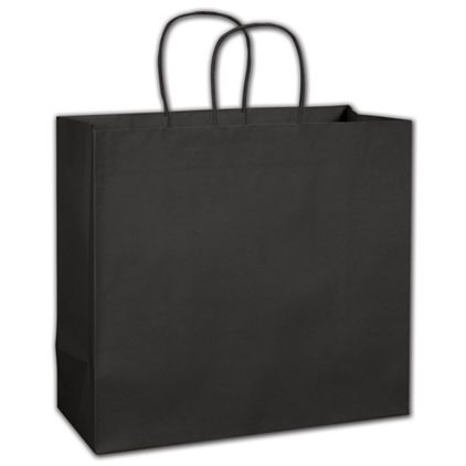 """Black Beater-Dyed Turn-Top Shoppers, 14 x 6 x 13 1/2"""""""
