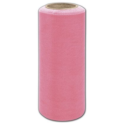 """French Pink Tulle, 6"""" x 25 Yds"""