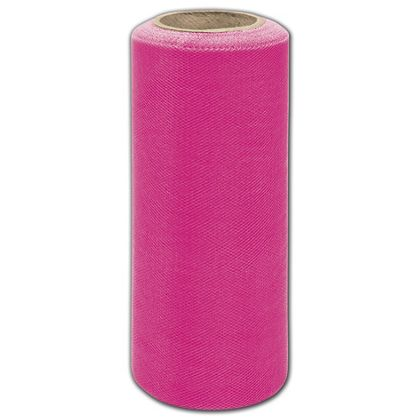 "Hot Pink Tulle, 6"" x 25 Yds"