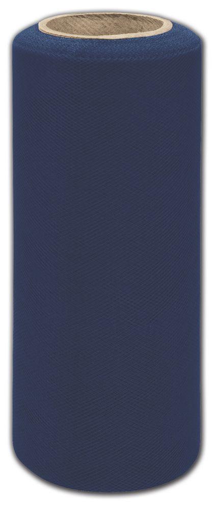 """Navy Tulle, 6"""" x 25 Yds"""