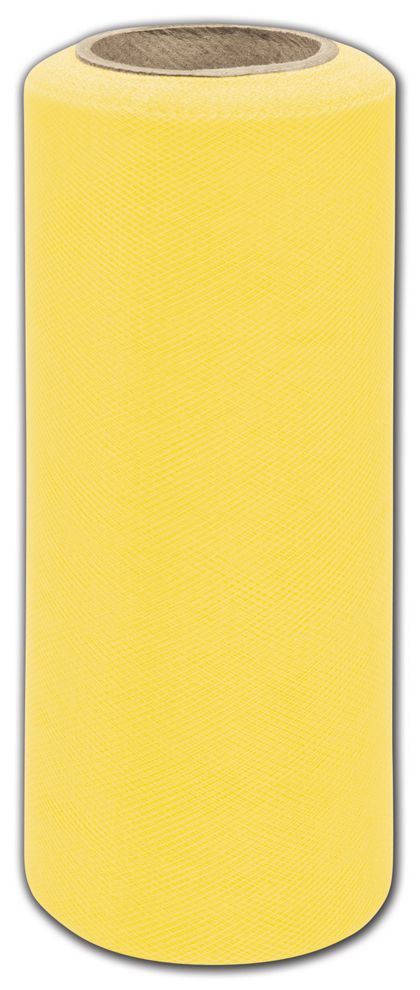 "Yellow Tulle, 6"" x 25 Yds"
