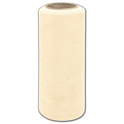 """Ivory Tulle, 6"""" x 25 Yds"""
