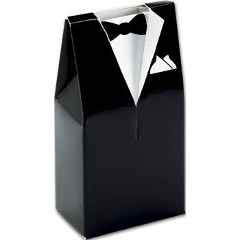Black & White Tuxedo Favor Boxes, 2 x 1 1/4 x 4