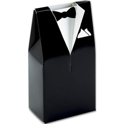 """Black & White Tuxedo Favor Boxes, 2 x 1 1/4 x 4"""""""