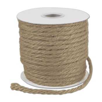 Natural Burlap Jute Rope Twine, 1/8