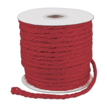 "Red Burlap Jute Rope Twine, 1/8"" x 25 Yds"