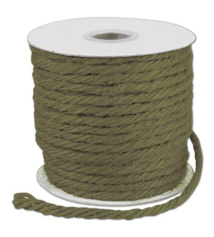 "Moss Burlap Jute Rope Twine, 1/8"" x 25 Yds"