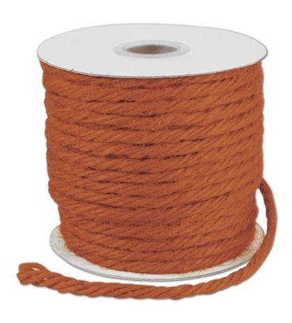 "Orange Burlap Jute Rope Twine, 1/8"" x 25 Yds"