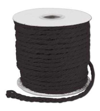 Black Burlap Jute Rope Twine, 1/8