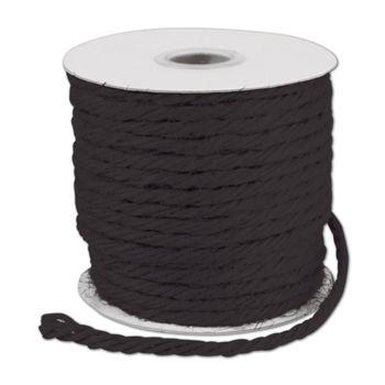 """Black Burlap Jute Rope Twine, 1/8"""" x 25 Yds"""