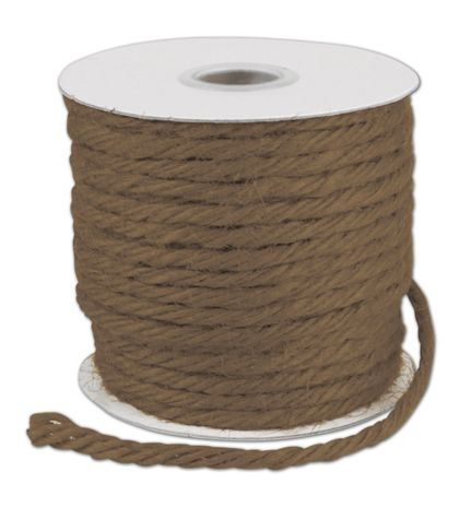 "Brown Burlap Jute Rope Twine, 1/8"" x 25 Yds"